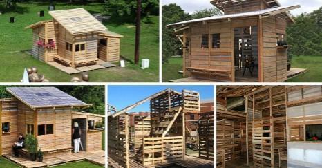 Casa con paletas, construida en un solo día