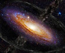 Extraños rayos de luz salen de un agujero negro supermasivo