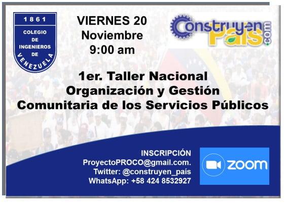Primer Taller Nacional sobre Organización y Gestión local de los Servicios Públicos