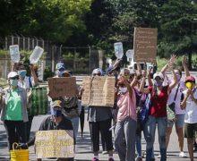 Guayaneses protestan por el derecho a acceder al agua potable