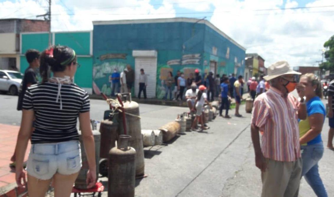 Seis protestas en 72 horas por falta de gas doméstico en Monagas