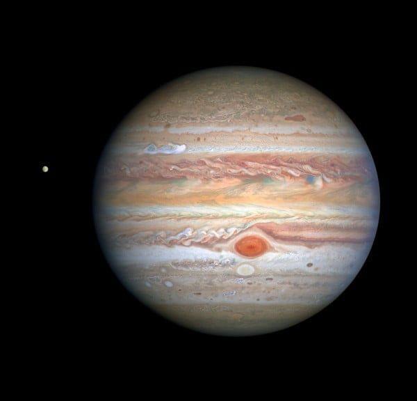 Telescopio Hubble registra una impresionante imagen de Júpiter